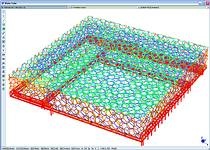 The Strand7 finite element model of the Water Cube