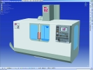 A Haas machine captured in Catia, in accordance with Haas product specifications